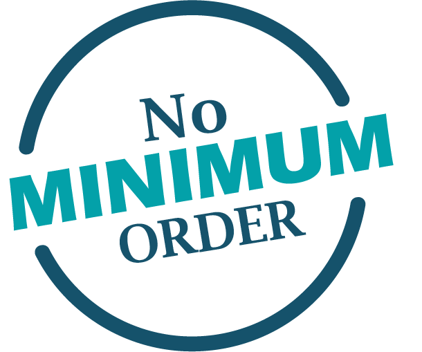 No minimum order