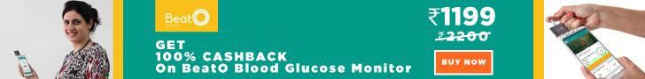Get 100% cashback on BeatO Blood Glucose Monitor