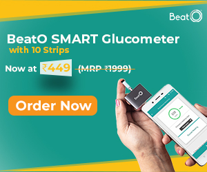 Get BeatO Glucometer with 10 strips at ₹449