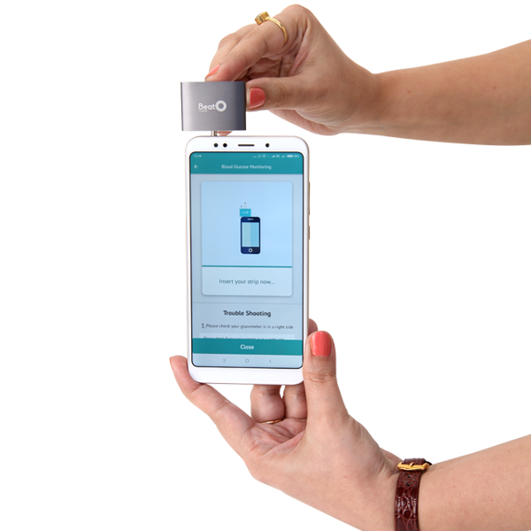 Smartphone Glucometer with 100 strips